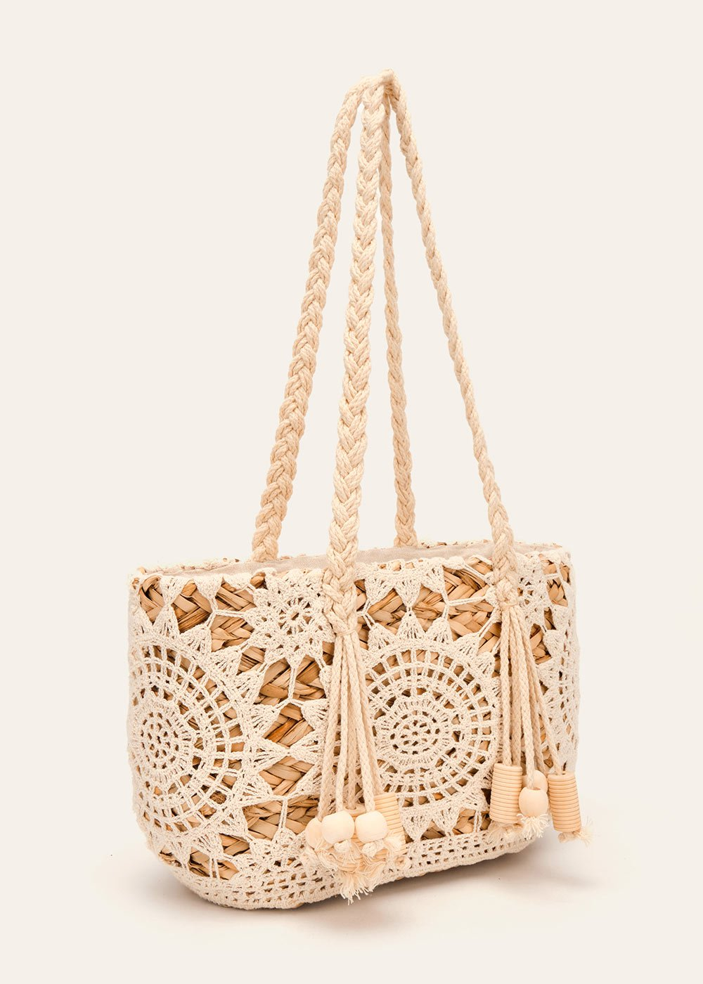 Bali crochet and straw bag - Safari  / Mousse - Woman