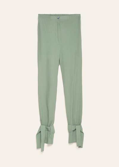 Pantaloni Stephanie con fiocchi al fondo