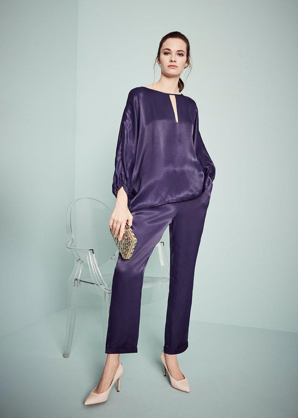 Cara trousers with elastic waistband - Ultramarine - Woman