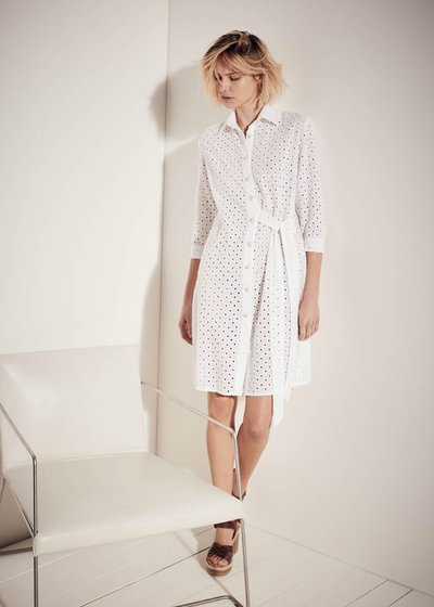 Carrie crossed shirt dress