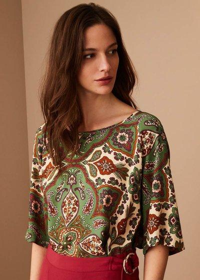Grazia persian print blouse