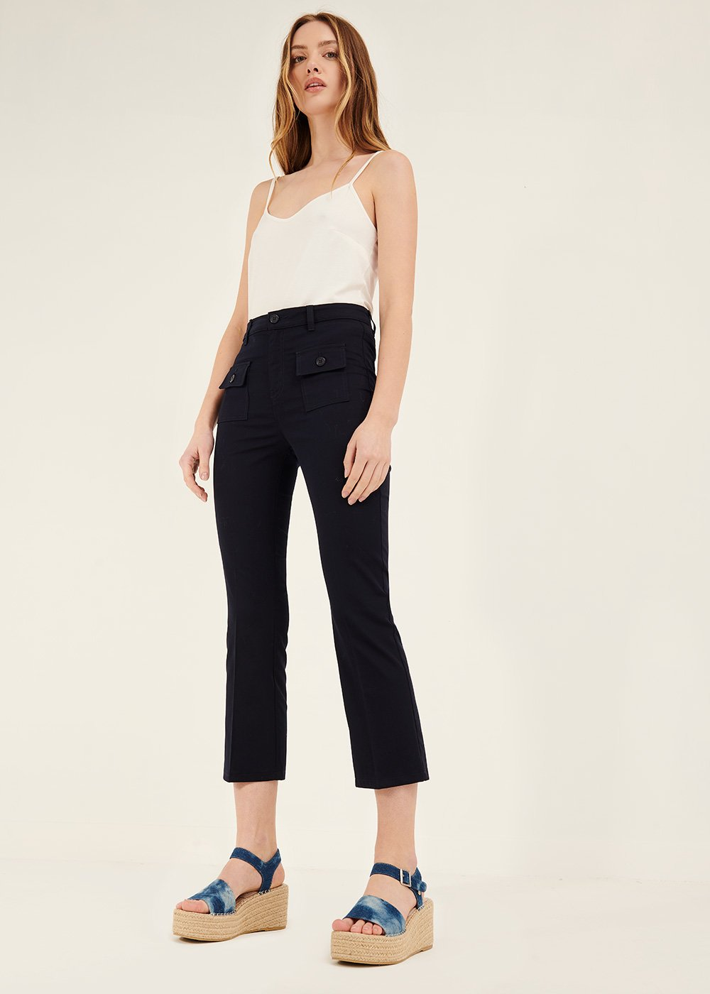 Cindy trousers with front pockets - Ultramarine - Woman