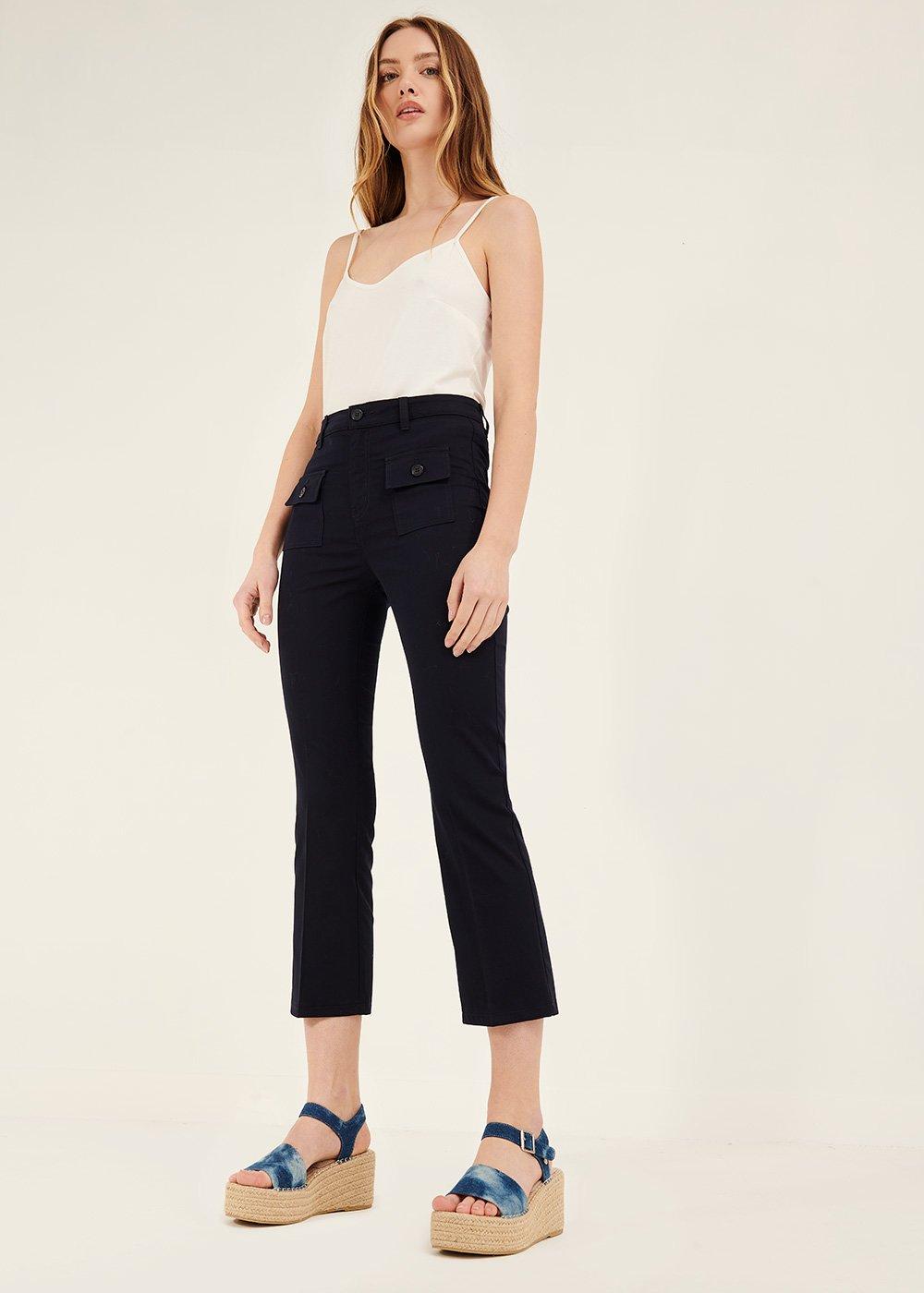 Pantalone Cindy con tasche sul davanti - Oltremare - Donna