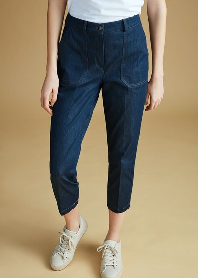 Lara denims with contrasting stitching