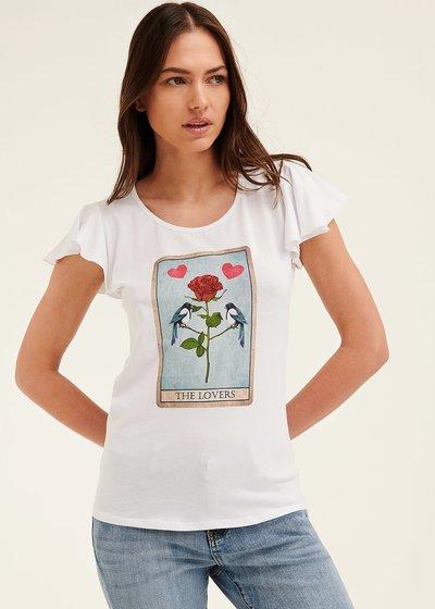 T-shirt Claudia con stampa cuore