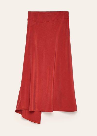 Scarlett rayon skirt with slit