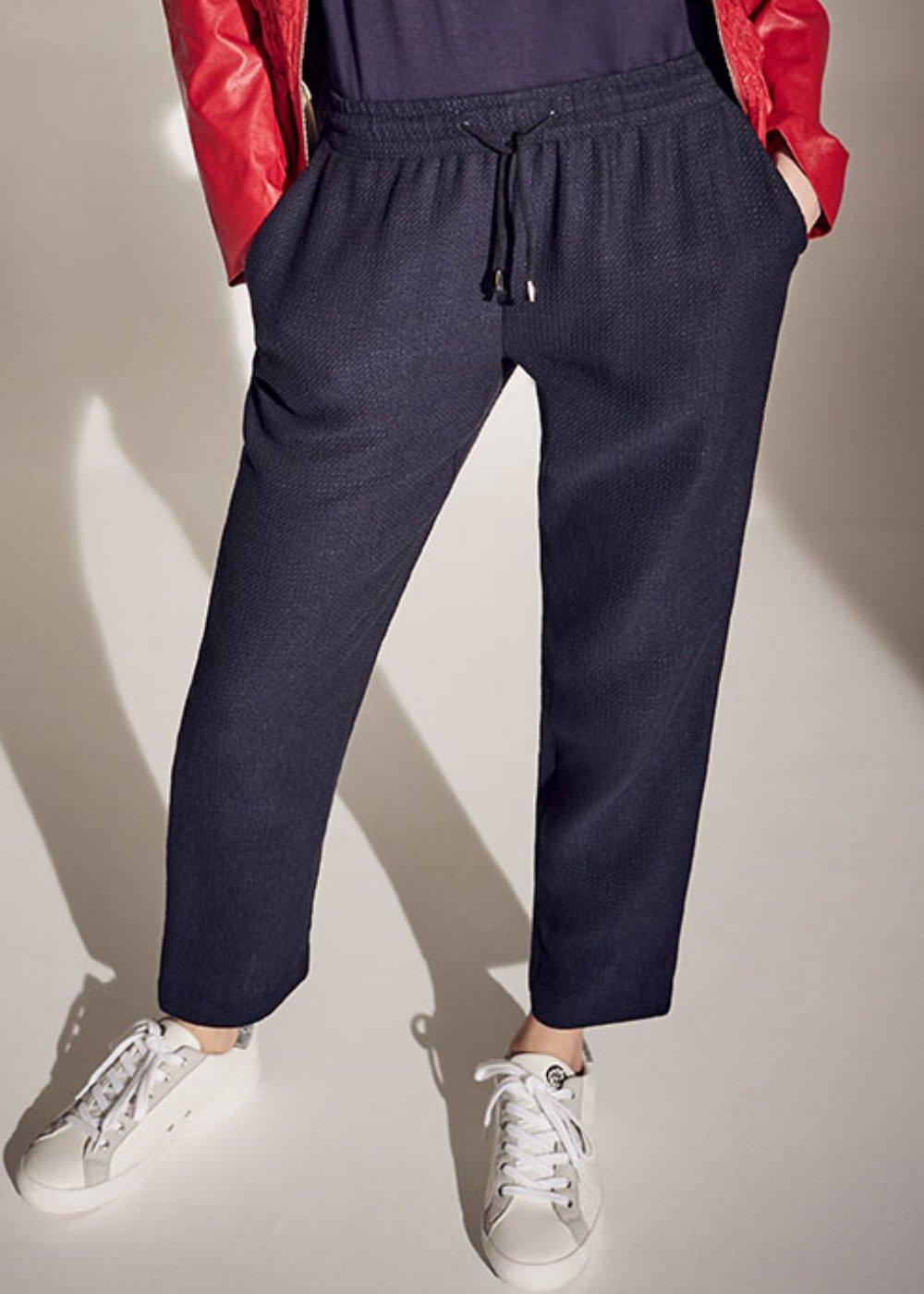 Pantalone Cara micro nido d'ape - Oltremare - Donna