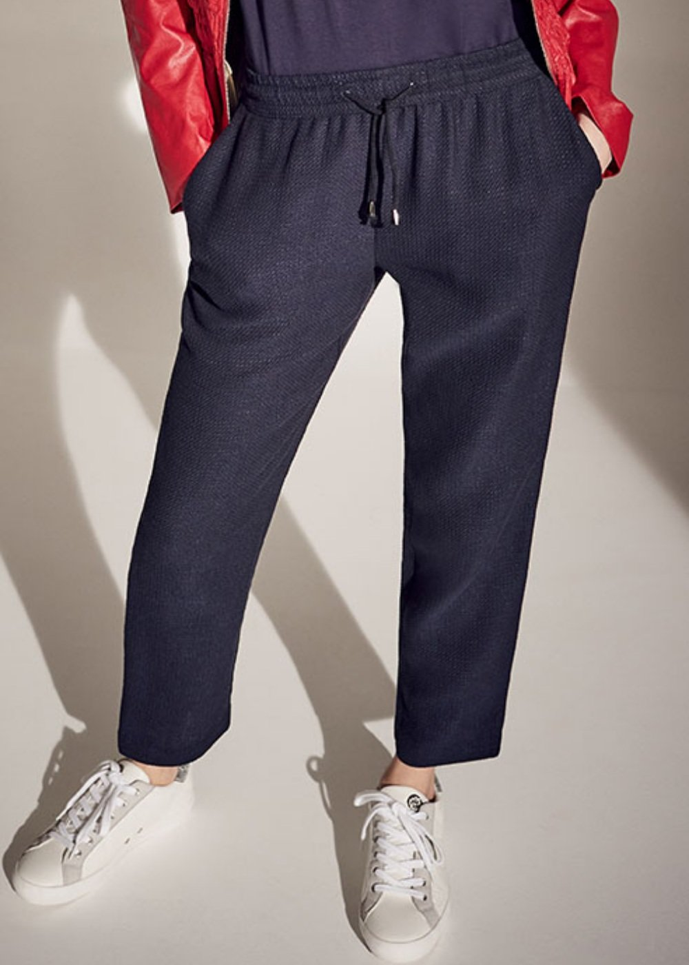 Cara micro honeycomb trousers - Ultramarine - Woman