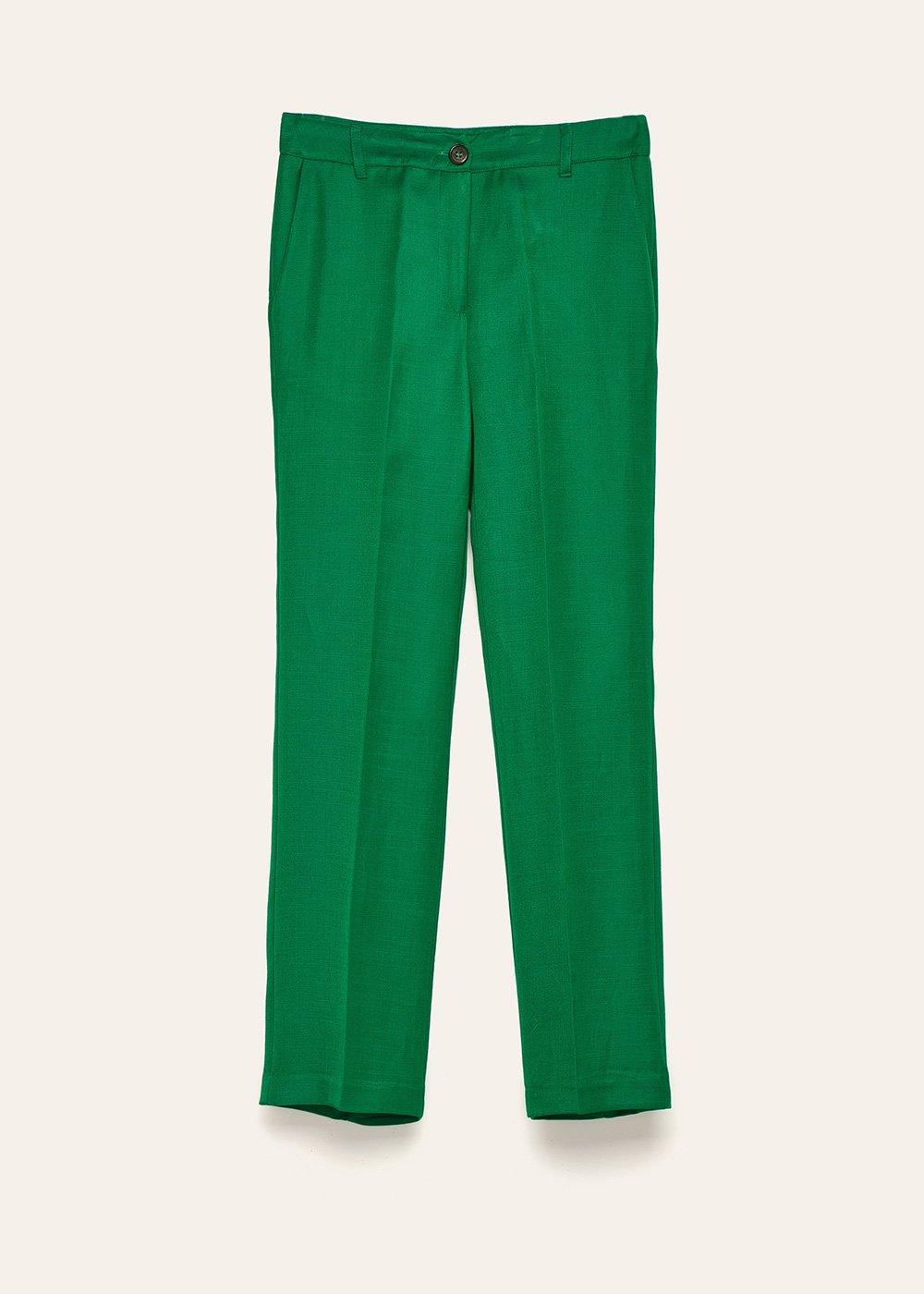 Pantalone Jacqueli in misto lino - Quadrifoglio - Donna
