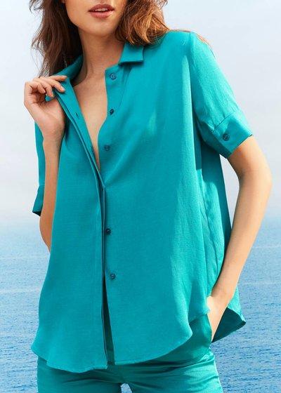 Chemise linen blend shirt