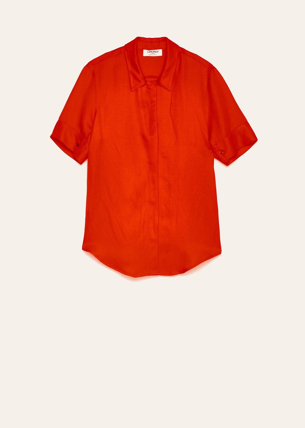 Camicia Chemise in misto lino - Aragosta - Donna