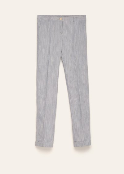 Bella cotton trousers with striped effect
