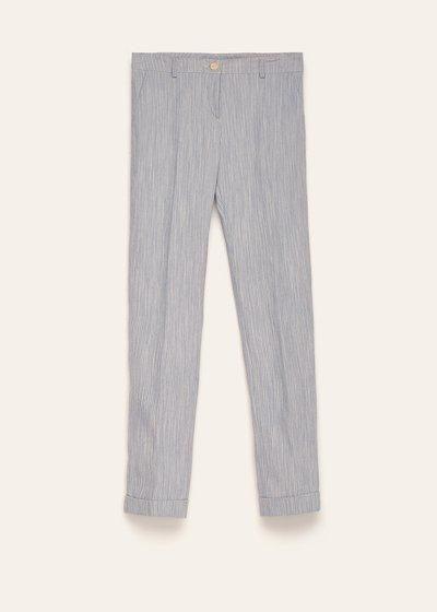 Pantalone Bella in cotone effetto rigato