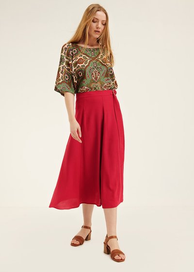 Geranio skirt with belt