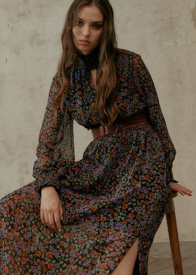 Aiden dress with floral pattern