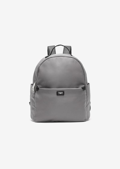 Nylon backpack and eco-leather inserts