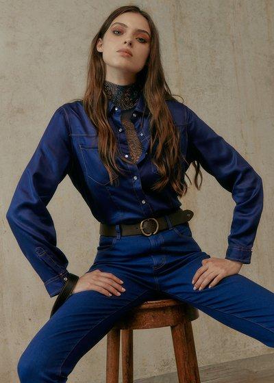 Calys Shirt with Collar and Snap Buttons