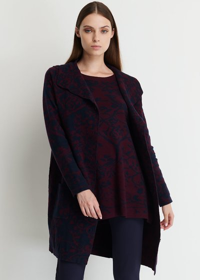 Conrad Cardigan with Neckline and Buttons