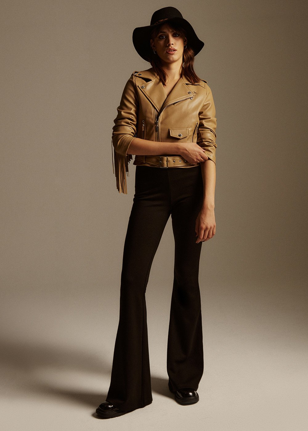 Victoria fleece flare pants - Black - Woman