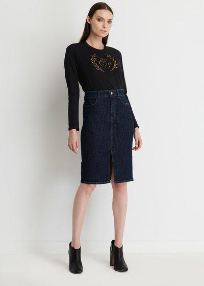 Gioia Denim skirt with slit
