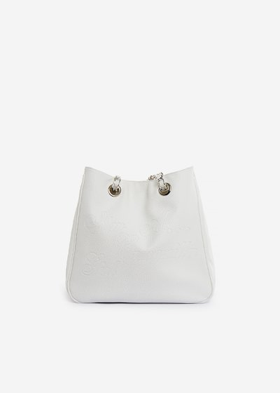 Faux-leather shopping bag Mini Camo Girl