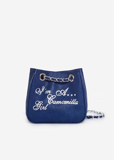 Micro Camo Girl printed silver bag