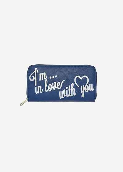 Wallet Prisca with lettering print
