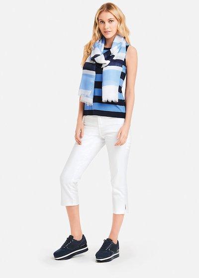 Pantaloni Piky con spacchetti laterali - White