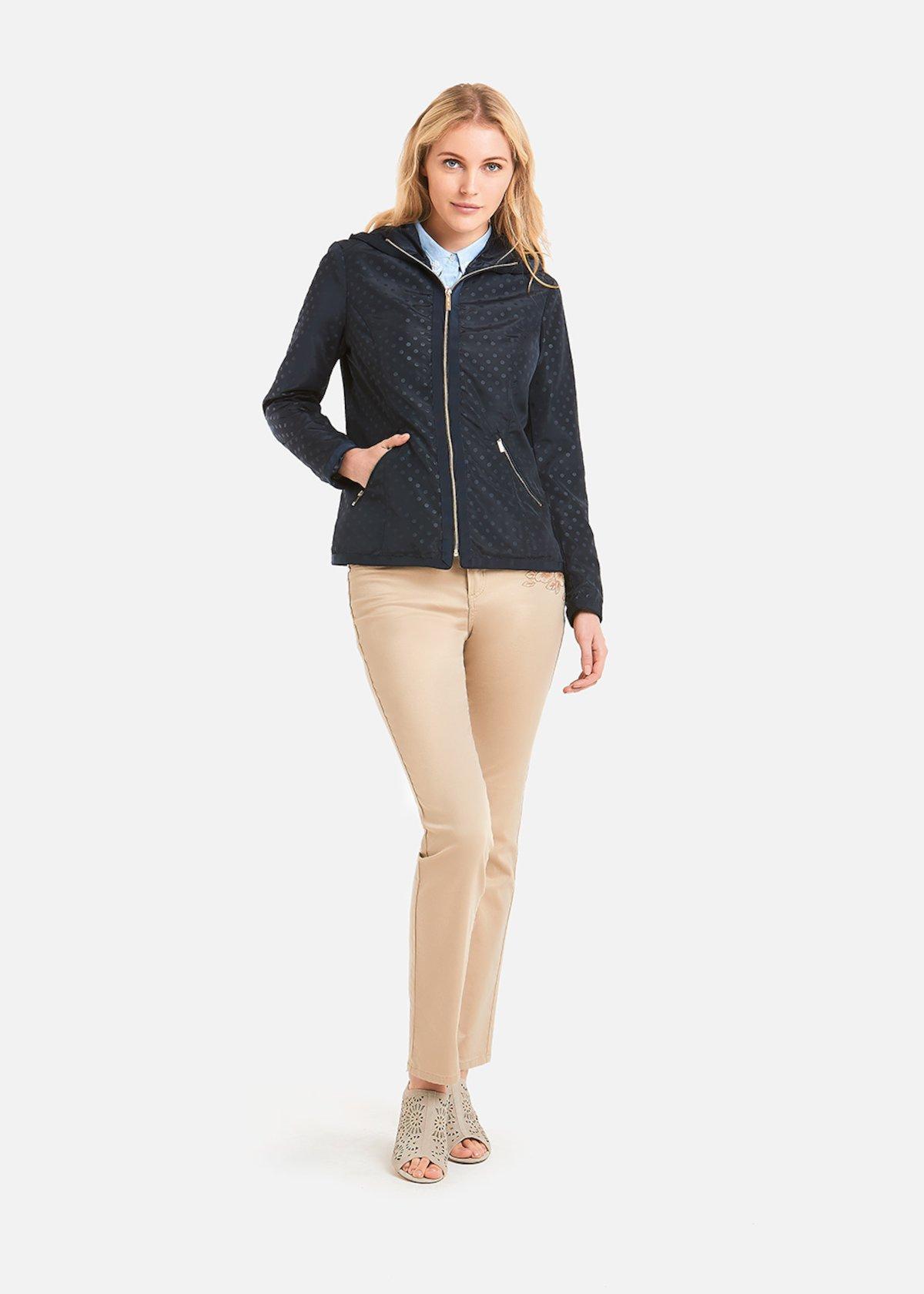 Gary Polka dots pattern hooded jacket