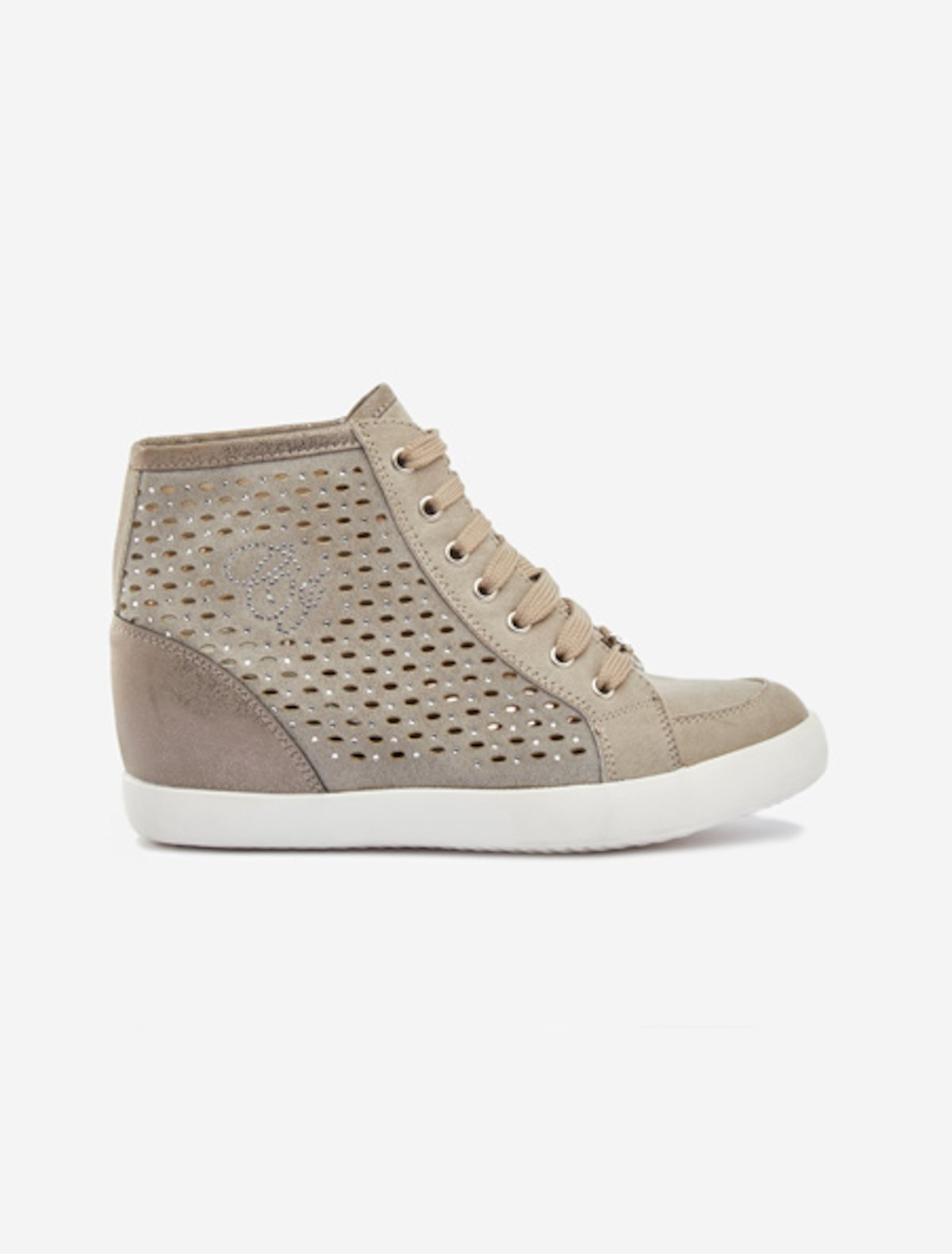 Faux-suede Sasha sneakers - Cinder