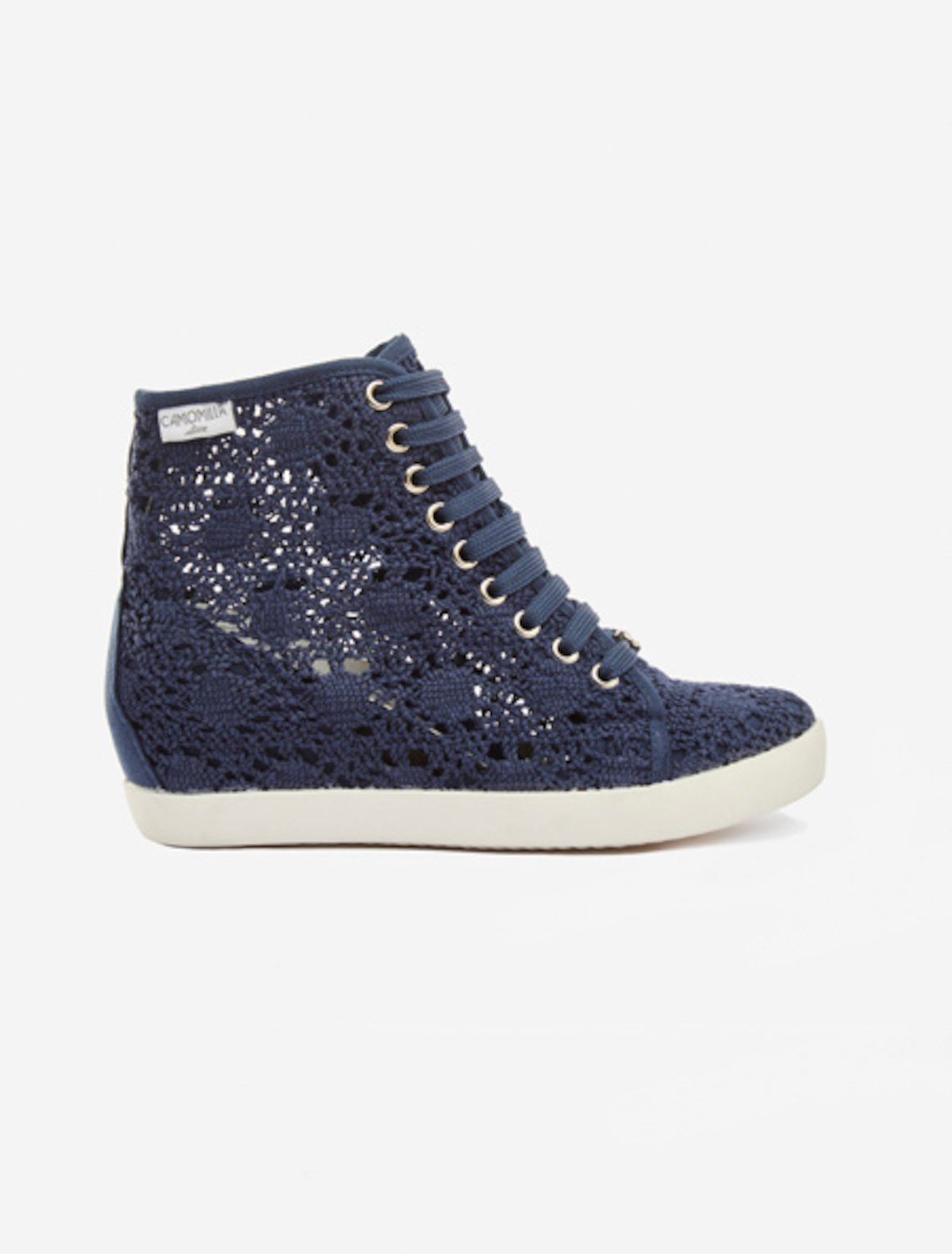 Sneakers Selene modello crochet - Medium Blue
