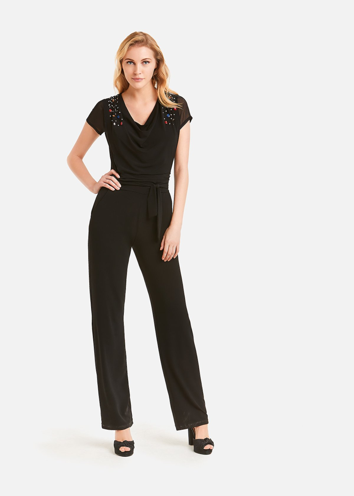 Taylor jumpsuit with rhinestones - Black