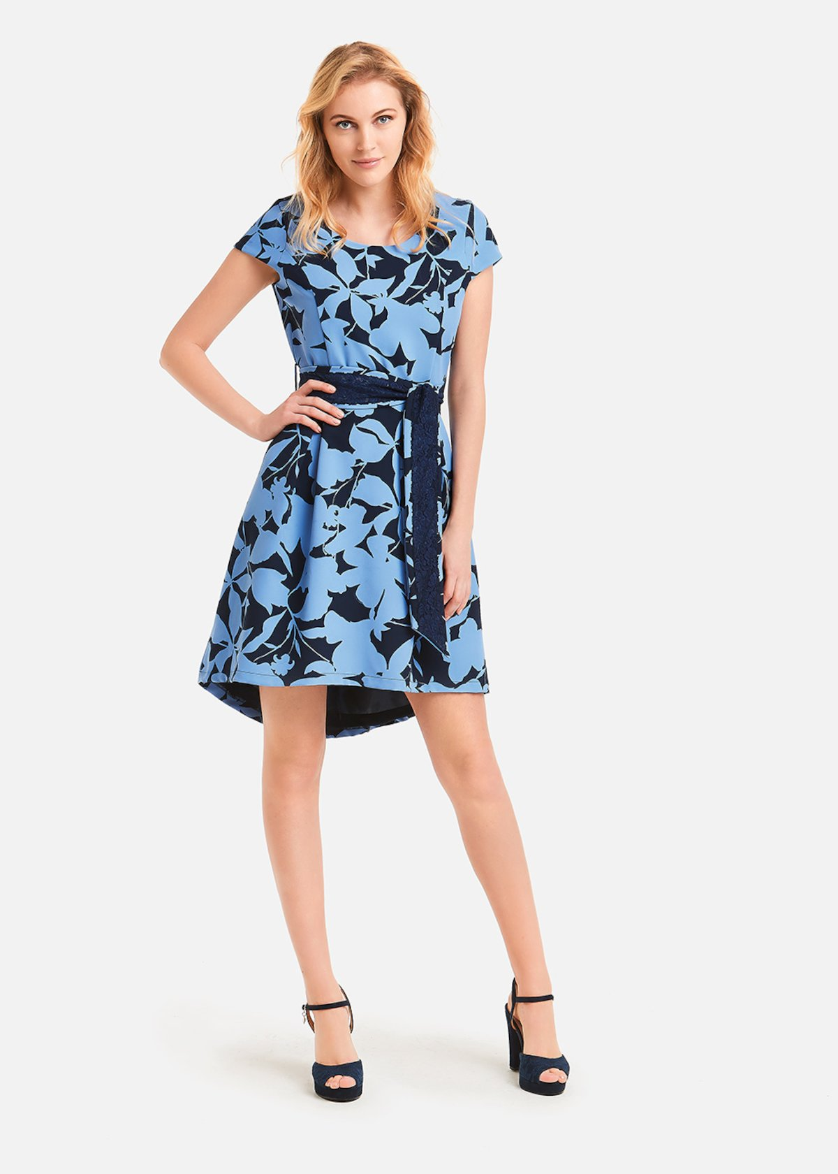 Adam dress floral pattern - Morning - Medium Blue Fantasia