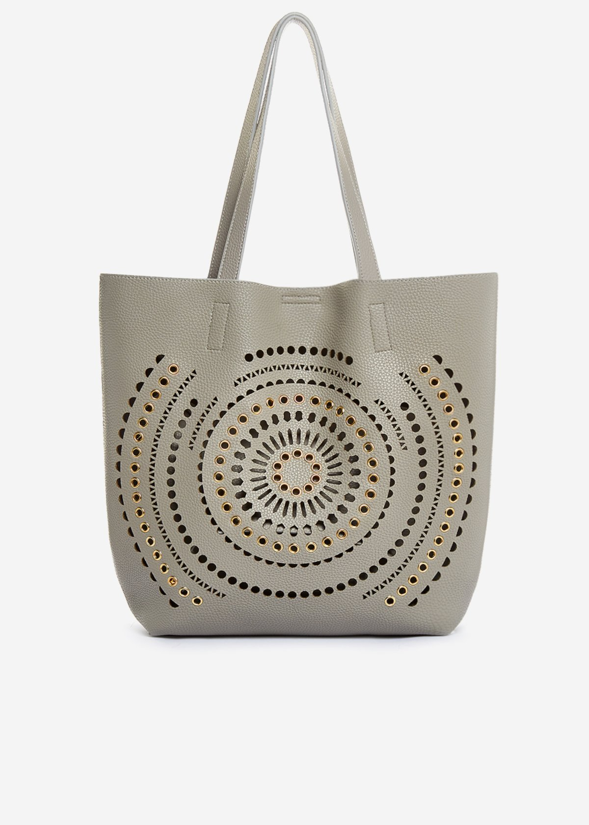 Shopping bag Bethany in ecopelle traforata - Delfino