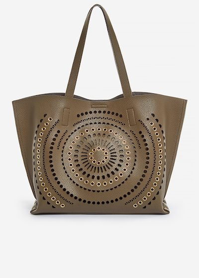 Shopping bag Brianna perforated detail - Morel