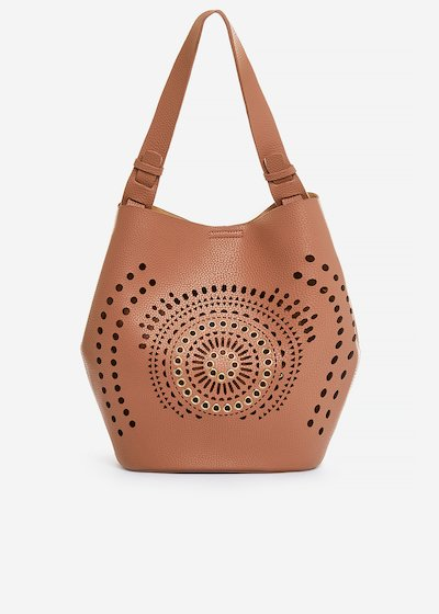 Ballie perforated faux leather bucket