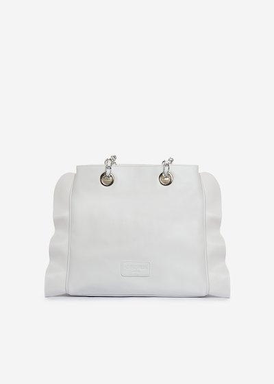 Besmira bag ruffle effect white