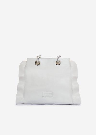 Besmira bag ruffle effect white