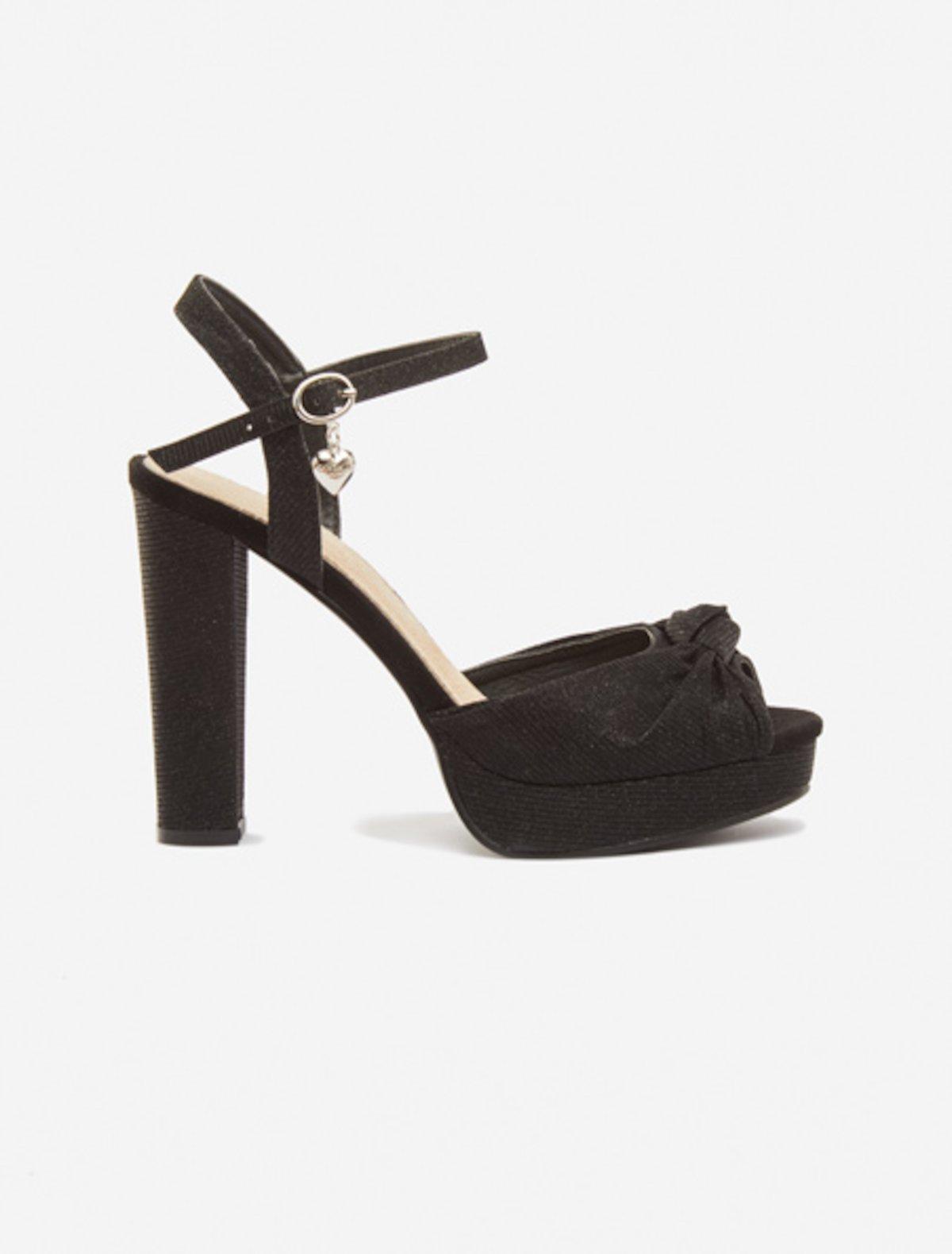 Snadia Sandals braided effect - Black 7b0eea4fdf1