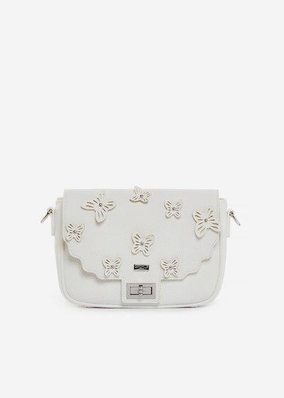 Brigitte handbag in faux leather with butterfly pattern