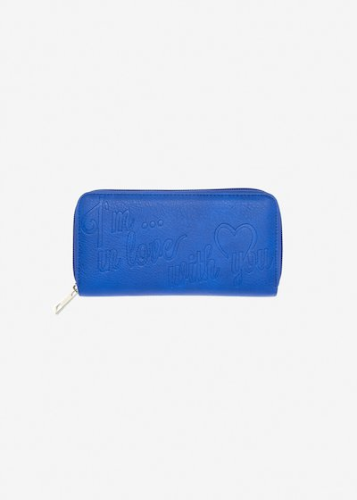 Faux-leather Pennie wallet