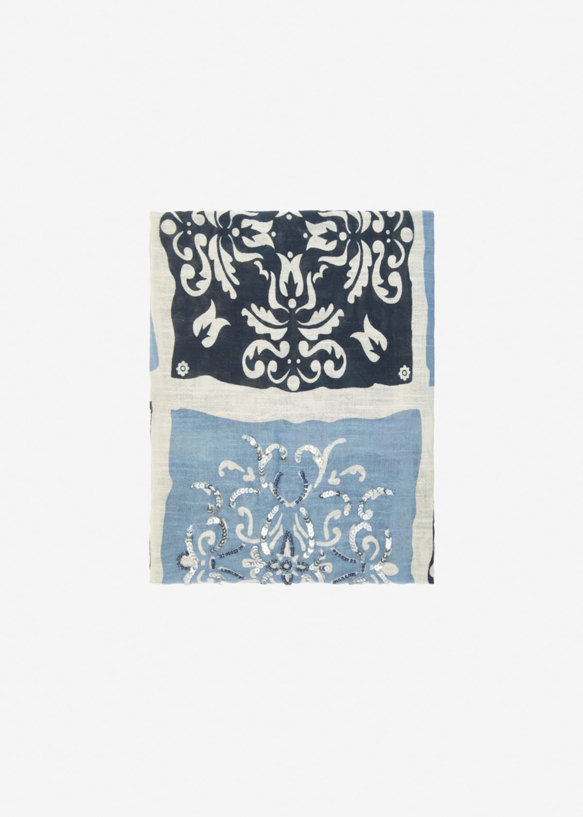 Sally cotton scarf with fantastic magnolica
