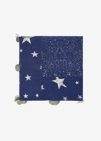 Sindy scarf with stars pattern
