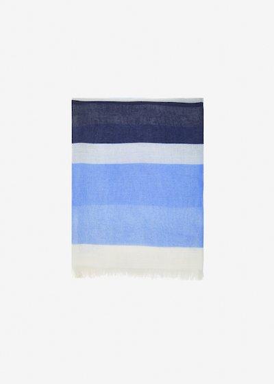 Shan stripes effect scarf
