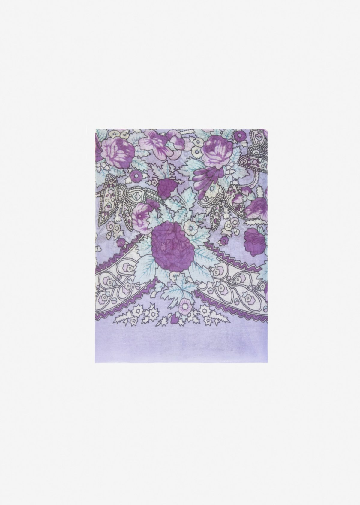 Sandra scarf with frayed edge - Malva Fantasia