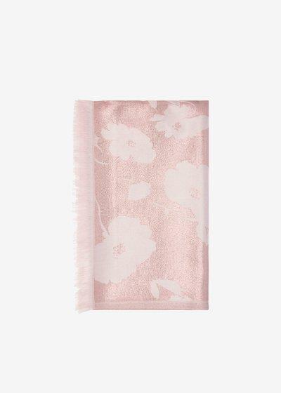 Shine scarf flowers detail