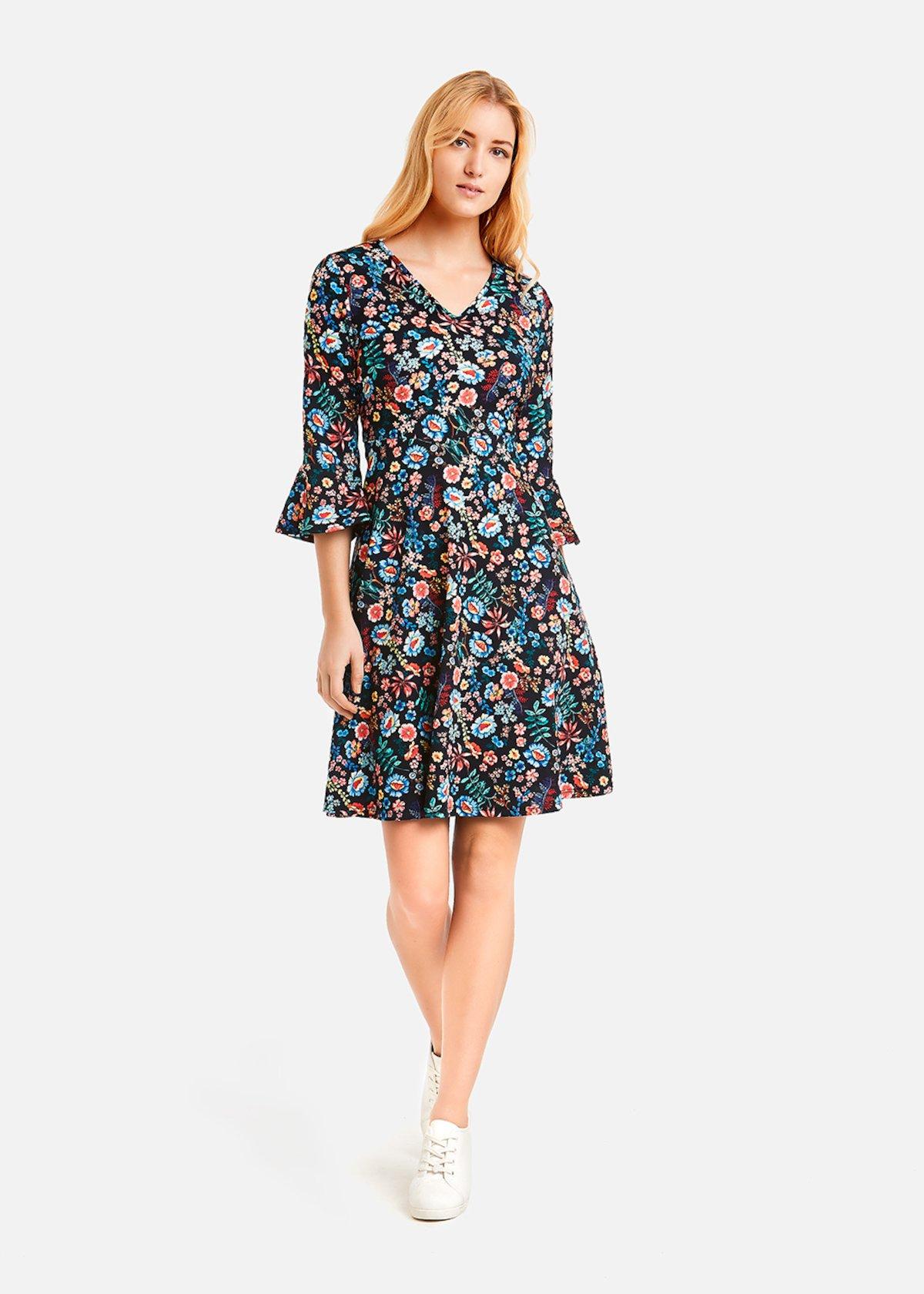 Alyon floral fantasy dress - Dark Blue Fantasia