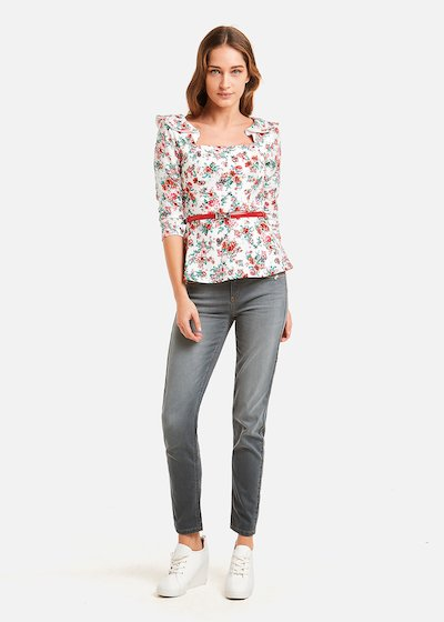 Sister t-shirt floral pattern with ruffles