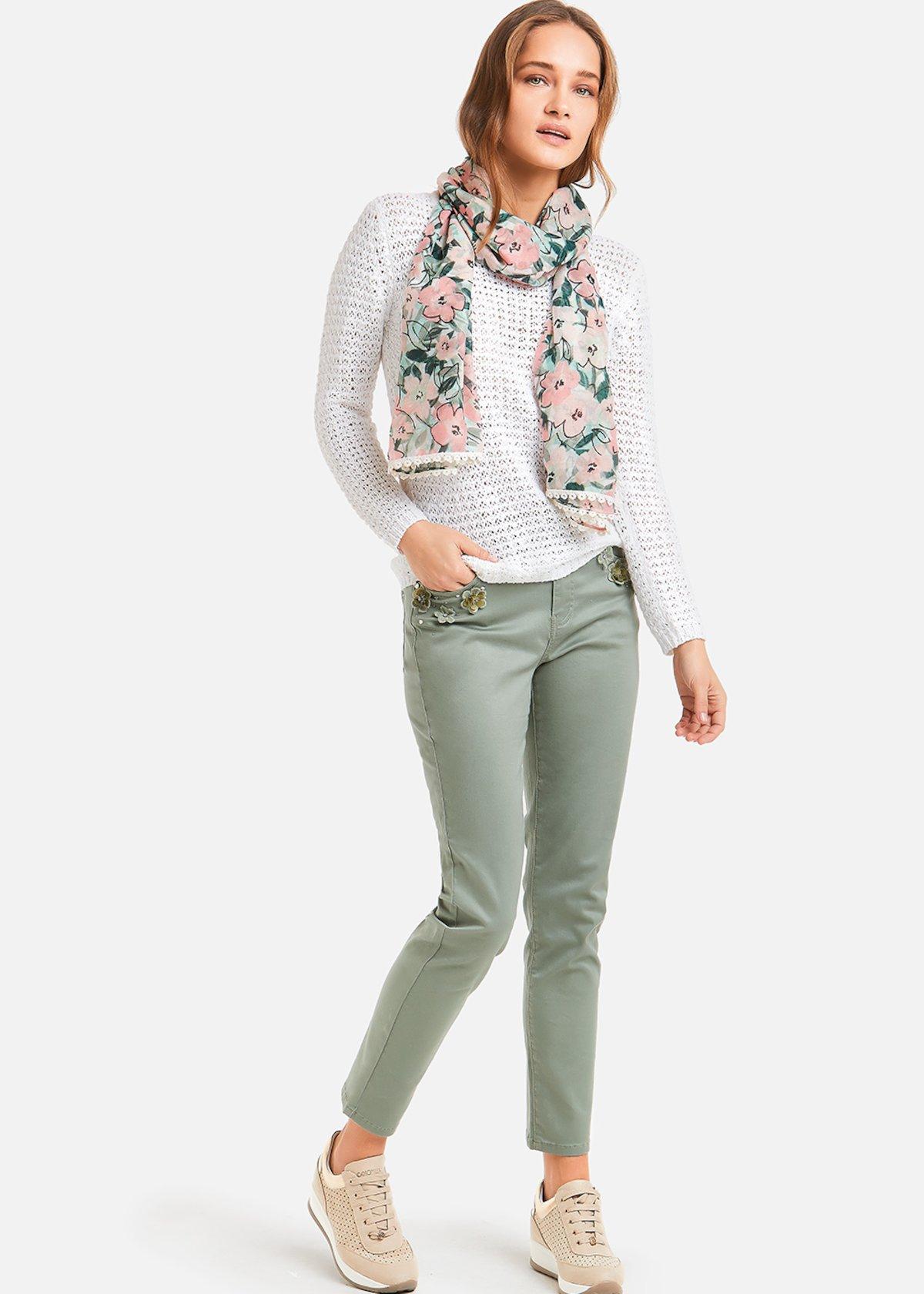 Satin cotton Primus trousers - Mint