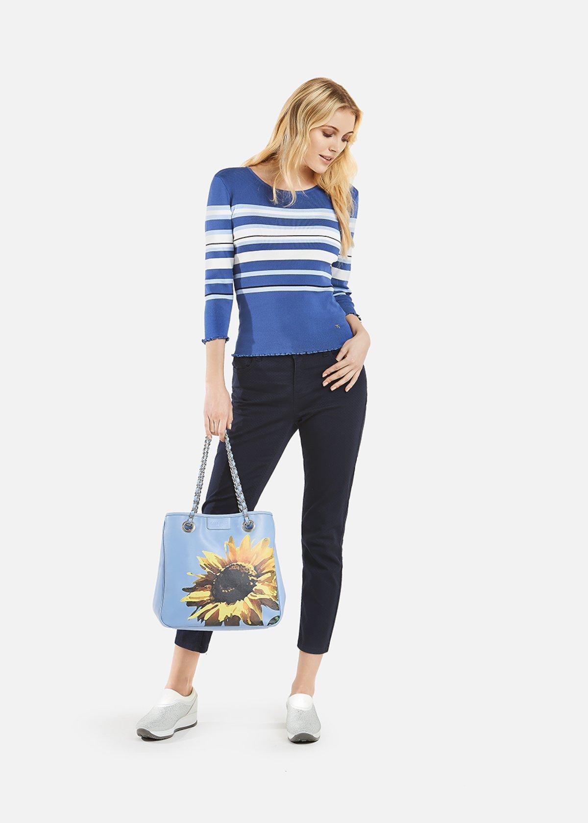 Moyra sweater stripes printed - Avion / Morning Stripes